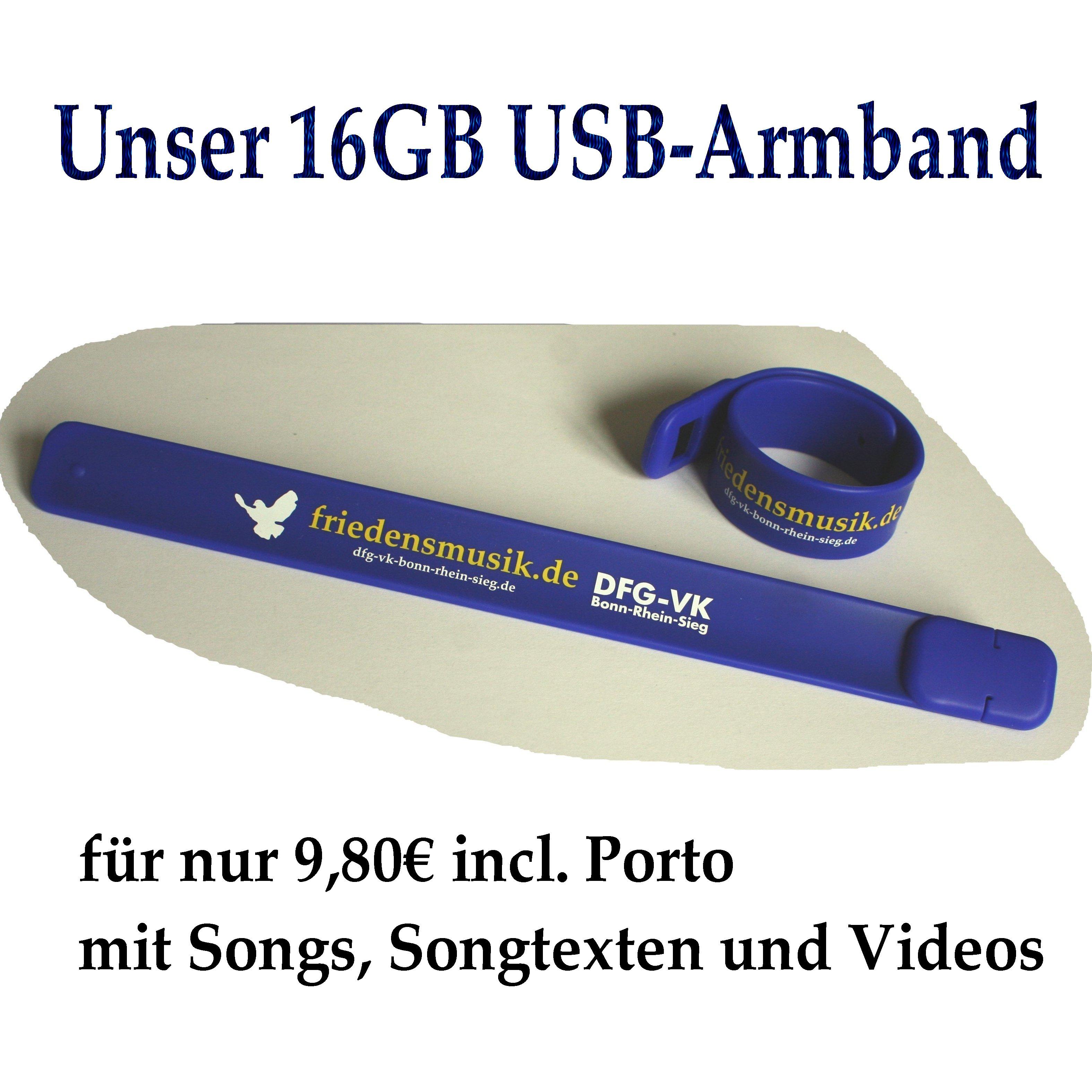 16GB USB-Armband
